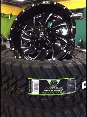 FUEL WHEELS 20x10 5 6 8 LUG & 35x12.50-20 LT ATTURO TiRES .FOR TRUCK SUV JEEP ( we finance) for Sale in Phoenix, AZ
