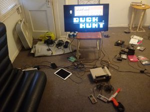 Original Nintendo with gun,controllers and games for Sale in Akron, OH