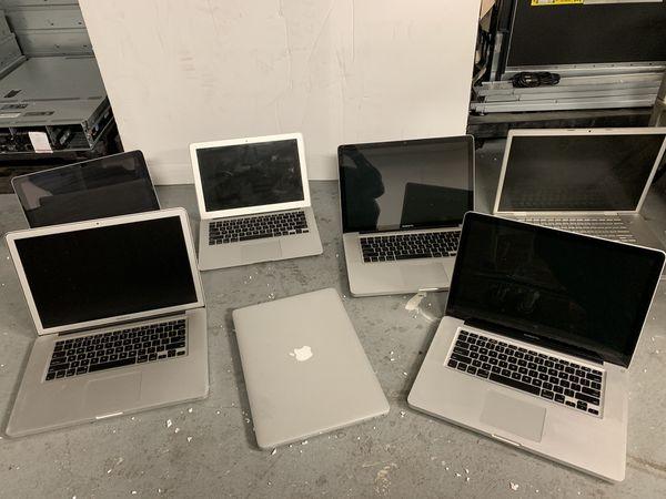 Lot of 7 x Apple MacBook Pro / Air Laptops