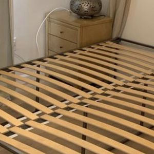 Welded Metal Queen Bed Frame, Bunky Board, & Bed Slats for Sale in Mesa, AZ