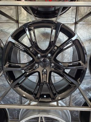 17x8 5x127 et34 jeep SRT rep wheel gloss black fit jeep grand cherokee and durango rim tire wheel shop for Sale in Tempe, AZ