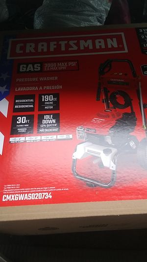 Craftsman 3000 PSI GAS PRESSURE WASHER. LAST PRICE DROP 200 BRAND NEW for Sale in Portland, OR