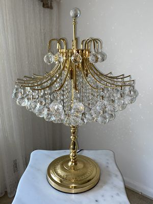swarovski crystal table lamp (2) for Sale in Fairfax, VA