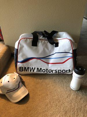 BMW Motorsport Duffle, Fan cap and Hydro flask for Sale in Portland, OR