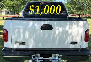 $1,000 URGENT For sale 2002 Ford F-150 runs and drives excellent very smooth transmission for Sale in Baton Rouge, LA