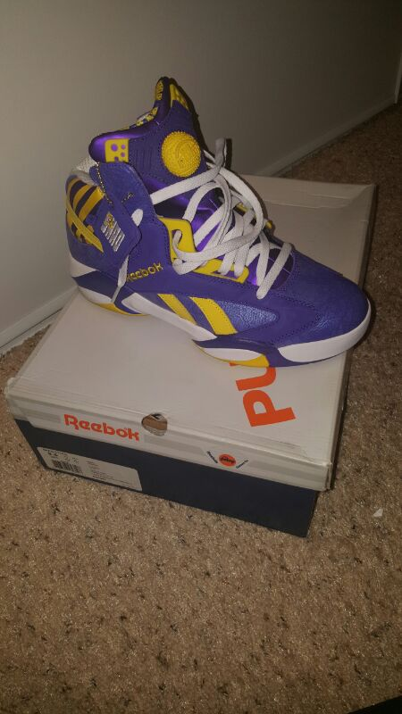 Reebok shaq attaq lsu and laker edition size 9.5 for Sale in Gardena ... 6e1dcfaf5