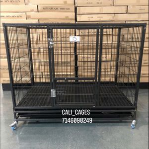 Dog Pet Cage Kennel Size 43 Large Folding With Plastic Floor Grid Tray And Wheels New In Box 📦 for Sale in Claremont, CA