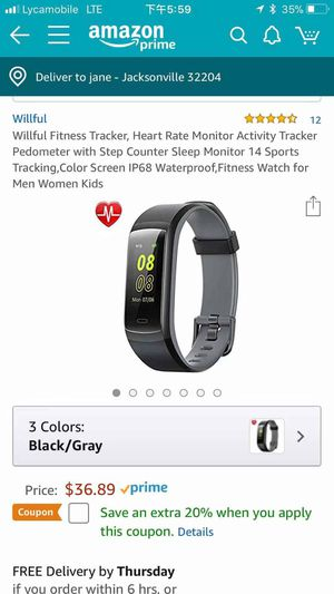 Willful Fitness Tracker for Sale in Jacksonville, FL