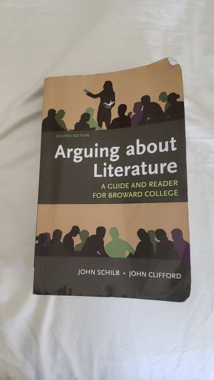 Arguing about Literature - A guide and reader for Broward College Textbook for Sale in Sunrise, FL