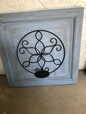 Reclaimed wall decor/candle holder for Sale in Clovis, CA