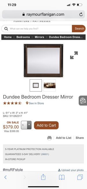 Used Ray Mour Flangian Dundee Dresser And Mirror for Sale in New York, NY