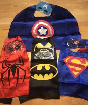 4 different Super hero costume for $10 Superman Spiderman Batman and Captain America for Sale in Pickerington, OH
