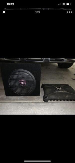 10 inch subwoofer dual amp READ DESCRIPTION for Sale in Fresno, CA