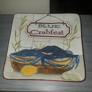 Kate Mcrostie Certified collectable blue crab serving plate for Sale in Virginia Beach, VA