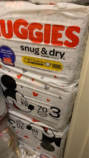 2 Packs Of Huggies Size 3; 140 Diapers for Sale in Smyrna, GA