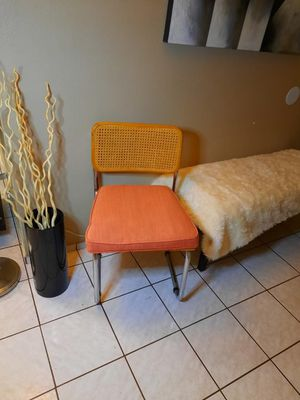 Vintage cane chrome chairs for Sale in Indio, CA