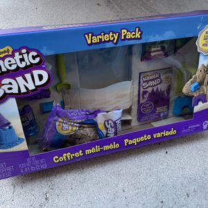 Kinetic Set Variety Pack - Comes With Natural Colored Sand And Neon Purple Sand - Plus Toys, Molds And Tools For Lots Of Kinetic Sand Fun - Brand New for Sale in Fort Lauderdale, FL