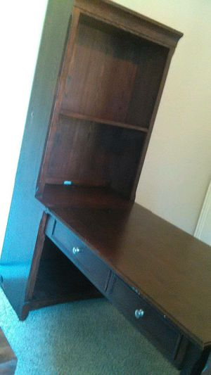 Beautiful solid wood home desk office with hutch for Sale in Burleson, TX