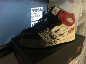 Size 10.5 Air Jordan Retro 1 Dave White for Sale in Houston, TX