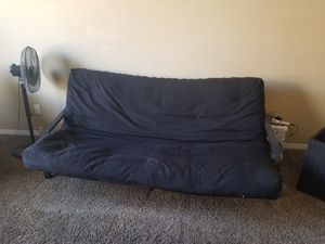 Futon couch black for Sale in Hemet, CA