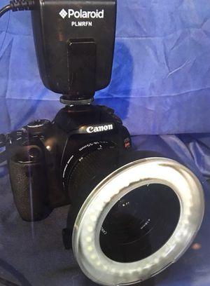 Polaroid LED Macro Ring Flash & Light for Nikon Digital SLR Cameras, Fits 40.5 through 77mm Lenses for Sale in Medford, NJ