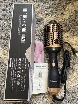 Surelang Hot Air Brush Hair Dryer Volumizer Straightener 5 in 1 (HY-036) - NOB for Sale in El Monte, CA