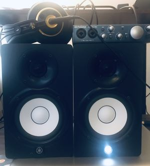 Yamaha Speakers, Presonus Audio box iTwo, Akg headphone for Sale in Bladensburg, MD