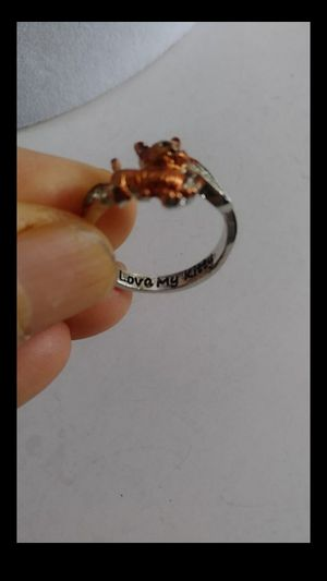 "Size 7 3/4 /17.8mm Fashion silver 925 ""I love my kitty"" ring for Sale in Richmond, CA"