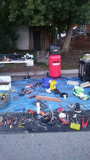 All tools.water pumps..3x..air compressor..fire place for Sale in Fresno, CA