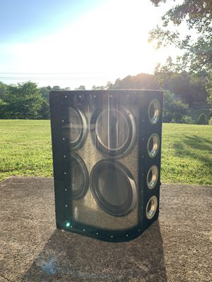 """Rockford Fosgate Dual P2 12"""" Punch Subwoofers w/ Enclosure Box for Sale in Greensburg, PA"""