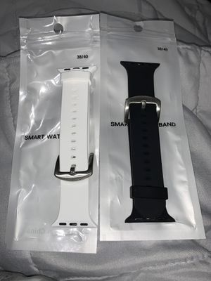 Set of 2 38mm Apple Watch Bands White & Black for Sale in New Port Richey, FL