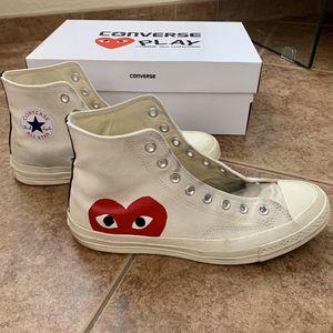 CONVERSE Play Comme Des Garçons Hidden Heart High Tops Chuck Taylors Sneakers Unisex Men's 9 Women's 11 for Sale in Phoenix, AZ
