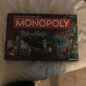 Rick And Morty Monopoly (never Really Played) for Sale in New York, NY