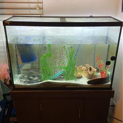 55 Gallon Fish Tank Including Fish for Sale in Antioch,  CA