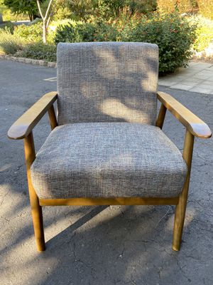 Set of 2 Lounge Chairs with Gray Upholstered seat and back for Sale in El Cajon, CA