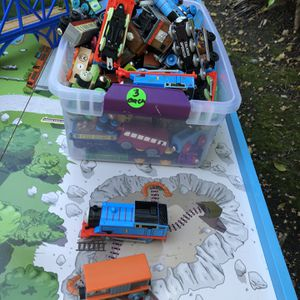 Thomas Train Table And set Over 40 Trains And Mini Collection for Sale in Miami, FL