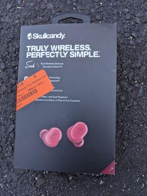Skullcandy Sesh - Moab Red True Wireless In-ear Headphones for Sale in Weymouth, MA
