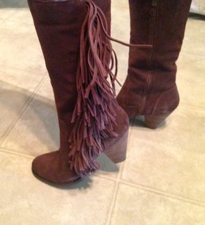 Leather Fringe Chocolate Brown Boots for Sale in Waco, TX