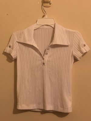 Retro White Attachable Short Sleeved Shirt for Sale in San Diego, CA
