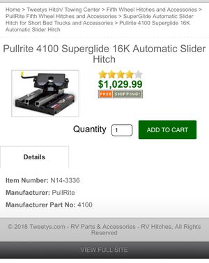 Barely used pullrite super glide 16k for Sale in Georgetown, TX