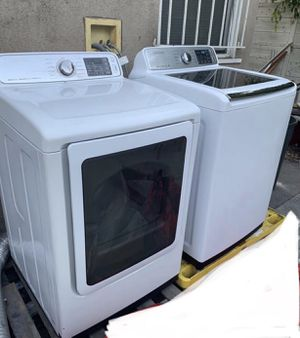 Washer 5.0 Cu. Ft. 11-Cycle High-Efficiency Top- Loading Dryer Samsung 7.4 Cu. Ft. 11- Cycle with Steam Samsung for Sale in Los Angeles, CA