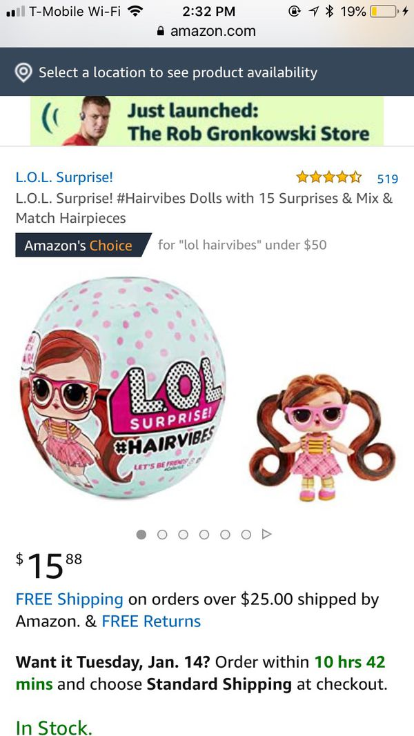 Lol Surprise HAIRVIBES $13 Each, NEW