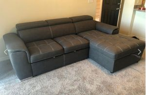 New Grey Sleeper Sectional Sofa for Sale in Austin, TX