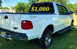 🟢💲1,OOO For sale URGENTLY this Beautiful💚2002 Ford F150 nice Family truck XLT Super Crew Cab 4-Door Runs and drives very smooth V8 the best🟢 for Sale in Arlington, VA