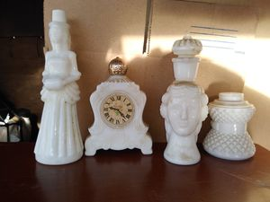 Avon milk glass perfume bottled for Sale in Lakewood, CO