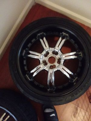 Black & Chrome Rims for Sale in Cleveland, OH