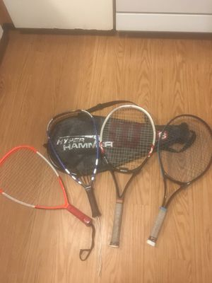Set of tennis and racket ball $100 for Sale in Boston, MA