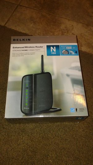 BELKIN enhanced wireless router N150 for Sale in Chino Hills, CA