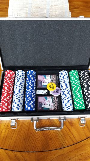 Poker chip set for Sale in Renton, WA