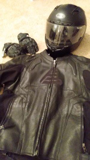Motorcycle helmet, gloves, jacket for Sale in Tigard, OR